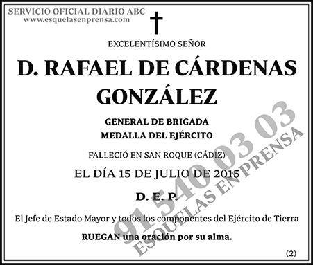 Rafael de Cárdenas González